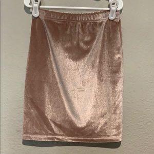 Shein velvet mini skirt